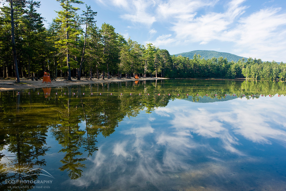 The beach area at White Lake State Park in Tamworth, New Hampshire.