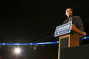 Senator Barack Obama  at Presidental Candidate Barack Obama Rally at The Izod Center at the Meadowlands in New Jersey on February 4, 2008