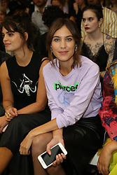 September 16, 2016 - London, United Kingdom - Image ©Licensed to i-Images Picture Agency. 16/09/2016. London, United Kingdom. Alexa Chung at the Ashley Williams show at London Fashion Week Spring/summer 2017. Picture by Stephen Lock / i-Images (Credit Image: © Stephen Lock/i-Images via ZUMA Wire)