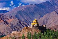 The Zangdok Pelri Temple, Leh Valley, Ladakh, Jammu and Kashmir State, India.