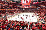 The Washington Capitals defeat the Calgary Flames 4-2 at Capital One Arena on November 3, 2019.