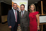 Repro free: At the Gorta Self Help Africa annual Ball at hotel Meyrick, Galway were Gorta Self help Africa CEO Ray Jordan and Minister for Foreign aid Sean Sherlock TD. and Senator Lorraine Higgins Photo:Andrew Downes