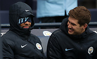 Football - 2018 / 2019 Premier League - Manchester City vs. Everton<br /> <br /> Raheem Sterling and John Stones of Manchester City at The Etihad.<br /> <br /> COLORSPORT/LYNNE CAMERON