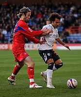 Photo: Tony Oudot/Sportsbeat Images.<br /> Crystal Palace v West Bromwich Albion. Coca Cola Championship. 01/12/2007.<br /> Filipe Teixeira of West Brom is challenged by Shaun Derry of Crystal Palace