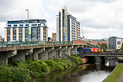A view of the Jury's Inn building with Nottingham Canal in front in Nottingham, Nottinghamshire, United Kingdom. The county council has been putting in effort to make Nottingham a greener city, including attempting to reduce the amount of traffic and using electric buses.  (photo by Andrew Aitchison / In pictures via Getty Images)
