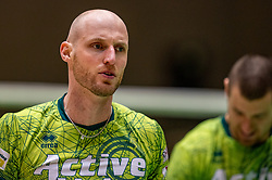 Jasper Diefenbach of Orion in action during the semi cupfinal between Active Living Orion vs. Amysoft Lycurgus on April 03, 2021 in Saza Topsportshall Doetinchem