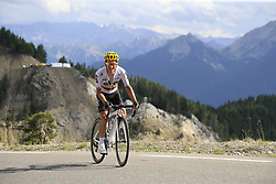 Sergio Henao Montoya (COL) Team Sky climbs through the Caisse Deserte on Col d'Izoard during Stage 18 of the 104th edition of the Tour de France 2017, running 179.5km from Briancon to the summit of Col d'Izoard, France. 20th July 2017.<br /> Picture: Eoin Clarke | Cyclefile<br /> <br /> All photos usage must carry mandatory copyright credit (© Cyclefile | Eoin Clarke)