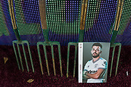 West Ham United FC match day programme alongside the forks pitch side ahead of the Premier League match between West Ham United and Arsenal at the London Stadium, London, England on 9 December 2019.