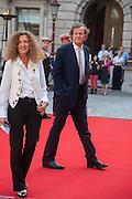 NICOLE FAHRI; SIR DAVID HARE, Celebration of the Arts. Royal Academy. Piccadilly. London. 23 May 2012.