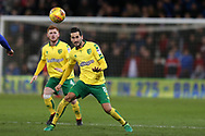 Mario Vrancic of Norwich city in action. EFL Skybet championship match, Cardiff city v Norwich city at the Cardiff city stadium in Cardiff, South Wales on Friday 1st December 2017.<br /> pic by Andrew Orchard, Andrew Orchard sports photography.