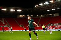 Football - 2020 / 2021 League Cup - Quarter Final - Stoke City vs Tottenham Hotspur - bet365 Stadium<br /> <br /> Harry Kane of Tottenham Hotspur celebrates scoring at Bet365 Stadium<br /> <br /> COLORSPORT/LYNNE CAMERON