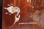 Graffiti in Bilbao, along the Muelle de Evaristo de Churruca - the walkway along the river Nervión.