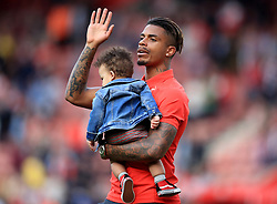 Southampton's Mario Lemina on the lap of appreciation during the Premier League match at St Mary's Stadium, Southampton.