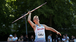 Scott Staples in the javelin during the Loughborough International Athletics Meeting at the Paula Radcliffe Stadium, Loughborough. PRESS ASSOCIATION Photo. Picture date: Sunday May 20, 2018. See PA story ATHLETICS Loughborough. Photo credit should read: David Davies/PA Wire.