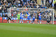 Wigan's Arouna Kone (not pictured) gets the final touch as he scores the opening goal. Barclays Premier league, Reading v Wigan Athletic at the Madejski Stadium in Reading on Saturday 23rd Feb 2013. pic by Andrew Orchard, Andrew Orchard sports photography,