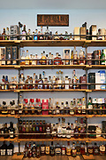 Nicholas Pagan's home collection of various whiskeys, photographed in his private residence, in Morgan Hill, California, on March 11, 2021. (Stan Olszewski/SOSKIphoto for Whiskey Advocate)