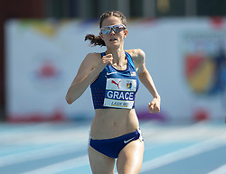 August 12, 2018 - Toronto, ON, U.S. - TORONTO, ON - AUGUST 12: Kate Grace (USA), gold in the 1500m at the 2018 North America, Central America, and Caribbean Athletics Association (NACAC) Track and Field Championships on August 12, 2018 held at Varsity Stadium, Toronto, Canada. (Photo by Sean Burges / Icon Sportswire) (Credit Image: © Sean Burges/Icon SMI via ZUMA Press)