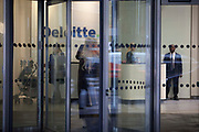 The entrance to the Deloitte accountants offices. Little New Street, London.