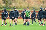 WELLINGTON, NEW ZEALAND -May 25: TJ Perenara and the Hurricanes team back at training, May 25, 2020 in Wellington, New Zealand. Copyright Photo: Elias Rodriguez / www.photosport.nz