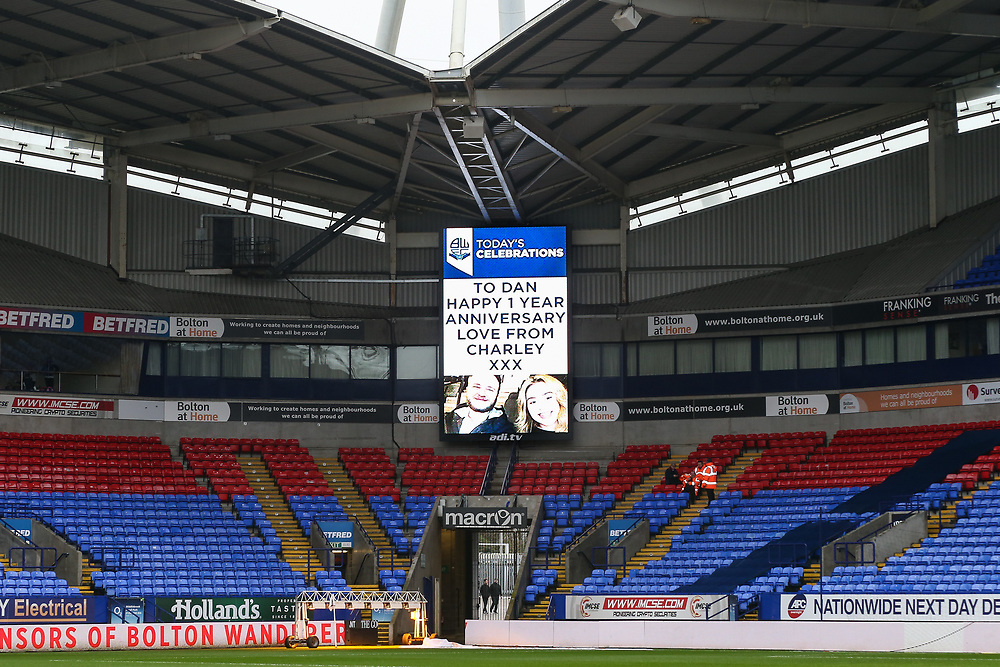 Mascots/Sponsors/Hospitality <br /> <br /> Photographer Andrew Kearns/CameraSport<br /> <br /> The EFL Sky Bet Championship - Bolton Wanderers v Cardiff City - Saturday 23rd December 2017 - Macron Stadium - Bolton<br /> <br /> World Copyright © 2017 CameraSport. All rights reserved. 43 Linden Ave. Countesthorpe. Leicester. England. LE8 5PG - Tel: +44 (0) 116 277 4147 - admin@camerasport.com - www.camerasport.com