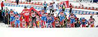 Langrenn<br /> FIS World Cup Tour de Ski<br /> 01.01.2012<br /> Oberstdorf<br /> Foto: Gepa/Digitalsport<br /> NORWAY ONLY<br /> <br /> FIS Weltcup, Tour de Ski, Skiathlon der Herren, 10km Sprint klassisch, 10km Freistil. <br /> <br /> Bild zeigt das Feld nach dem Start mit Maxim Vylegzhanin (RUS), Giorgio Di Centa  (ITA), Petter Northug (NOR), Dario Cologna (SUI), Dmitriy  Japarov (RUS), Sami Jauhojaervi (FIN), Alexander Legkov (RUS), Ilia Chernousov (RUS), Sergey Turychev (RUS) und Alex Harvey (CAN).