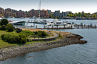 The Victoria International Marina provides safe moorage to superyachts and is located along the Songhees walkway in the Inner Harbour of Victoria, BC.