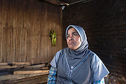 Siti Rofi'ah, 45, poses for a photograph at her home in Lewoleba, Nubatukan subdistrict, Lembata district, East Nusa Tenggara province, Indonesia.