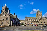 Irlande, Dublin, St Michaels Hill, la cathédrale Christ Church ou cathédrale de la Sainte-Trinité, cathédrale anglicane irlandaise // Republic of Ireland, Dublin, Christ Church Cathedral