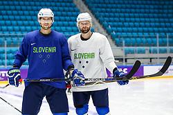 David Rodman and Andrej Hebar at ice hockey practice one day before at IIHF World Championship DIV. I Group A Kazakhstan 2019, on April 28, 2019 in Barys Arena, Nur-Sultan, Kazakhstan. Photo by Matic Klansek Velej / Sportida