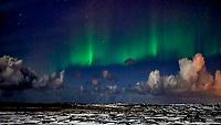 Reykjavik Northern Lights. Image taken with a Nikon Df camera and 24 mm f/1.4 lens (ISO 1600, 24 mm, f/1.4, 1 sec).