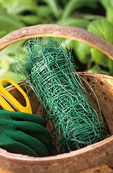 Netting in a trug