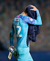 Luton Town's Simon Sluga reacts to the final whistle<br /> <br /> Photographer Alex Dodd/CameraSport<br /> <br /> The EFL Sky Bet Championship - Leeds United v Luton Town - Tuesday 30th June 2020 - Elland Road - Leeds<br /> <br /> World Copyright © 2020 CameraSport. All rights reserved. 43 Linden Ave. Countesthorpe. Leicester. England. LE8 5PG - Tel: +44 (0) 116 277 4147 - admin@camerasport.com - www.camerasport.com
