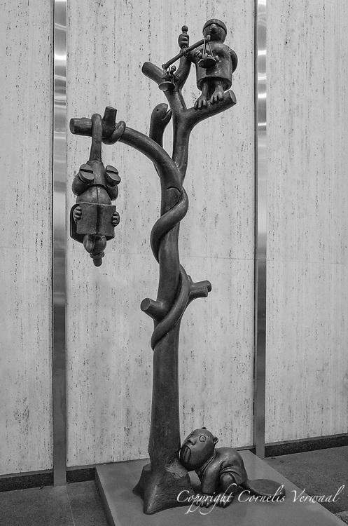 """Tree of Knowledge"" by Tom Otterness; Marlborough, 40 West 57th Street."