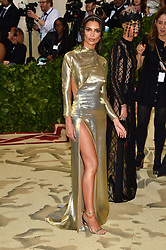 Emily Ratajkowski attending the Costume Institute Benefit at The Metropolitan Museum of Art celebrating the opening of Heavenly Bodies: Fashion and the Catholic Imagination. The Metropolitan Museum of Art, New York City, New York, May 7, 2018. Photo by Lionel Hahn/ABACAPRESS.COM