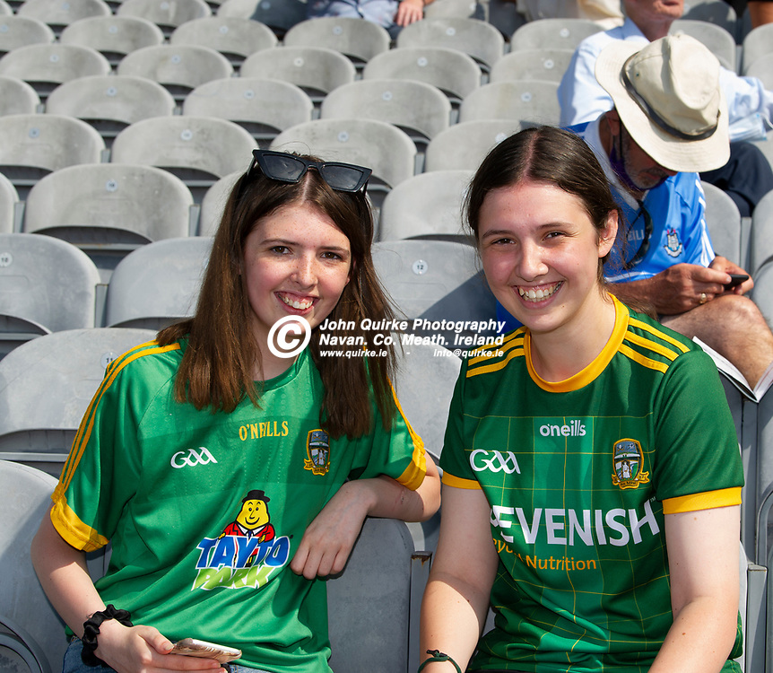 18-07-21. Meath v Dublin - Leinster SFC Semi-Final at Croke Park.<br /> Eimear (Left) and Anna Daly from Trim were in Croke Park supporting Meath in Leinster SFC Semi-Final.<br /> Photo: John Quirke / www.quirke.ie<br /> ©John Quirke Photography, 16 Proudstown Road, Navan. Co. Meath. (info@quirke.ie / 046-9028461 / 087-2579454).