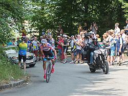 06.07.2015, Litschau, AUT, Österreich Radrundfahrt, 2. Etappe, Litschau nach Grieskirchen, im Bild Matthias Krizek (AUT, Bester Österreicher) an der Bergwertung Schaumberg // Best Austrian rider Matthias Krizek of Austria during the Tour of Austria, 2nd Stage, from Litschau to Grieskirchens, Litschau, Austria on 2015/07/06. EXPA Pictures © 2015, PhotoCredit: EXPA/ Reinhard Eisenbauer