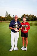 01-09-2016 Golffoto's van het Nationaal Open op de Hilversumsche Golf Club in Hilversum. Finale.  Ralph Miller en Roos Haarman