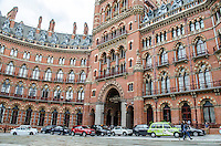 St Pancras Renaissance Hotel, St Pancras, London, UK. At the same location is St Pancras Railway Station from where the Eurostar high speed trains operate to Continental Europe via the Channel Tunnel. The St Pancras Complex also incorporates many big name stores and restaurants. 201609044264<br /> <br /> Copyright Image from Victor Patterson, 54 Dorchester Park, Belfast, UK, BT9 6RJ<br /> <br /> t1: +44 28 9066 1296 (from Rep of Ireland 048 9066 1296)<br /> t2: +44 28 9002 2446 (from Rep of Ireland 048 9002 2446)<br /> m: +44 7802 353836<br /> <br /> e1: victorpatterson@me.com<br /> e2: victorpatterson@gmail.com<br /> <br /> The use of my copyright images is subject to my Terms & Conditions.<br /> <br /> It is IMPORTANT that you familiarise yourself with them. They are available on my website at www.victorpatterson.com.<br /> <br /> None of my copyright images may be used on a website unless they are visibly watermarked, i.e. © Victor Patterson within the body of the visible image. Metadata denoting my copyright must NOT be deleted. Maximum online size is 300 kbs. Web use is extra at currently recommended NUJ rates.