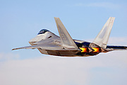 F/A-22A Raptor burner takeoff