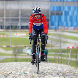 SITTARD (NED) WIELRENNEN<br />De elite-beloften van Allinq-Krush-De IJsselstreek zijn op trainingskamp in Limburg. Robin Lowik