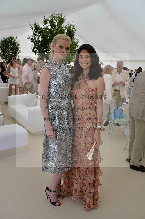 Lara Stone and Jasmine Hemsley at Cartier Queen's Cup Polo, Guard's Polo Club, Berkshire, England. 18 June 2017.<br /> Photo by Dominic O'Neill/SilverHub 0203 174 1069 sales@silverhubmedia.com