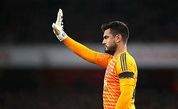 Manchester United goalkeeper Sergio Romero during the FA Cup, Fourth Round match at the Emirates Stadium, London.