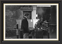 Part Series of 7 Black and White Photographes Depicting Brick Lane Market London,  2 feb 1984<br />