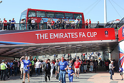 May 19, 2018 - London, England, United Kingdom - Fans head towards Wembley Stadium  attend The Emirates FA Cup Final between Chelsea and Manchester United at Wembley Stadium on May 19, 2018 in London, England. (Credit Image: © Alex Cavendish/NurPhoto via ZUMA Press)