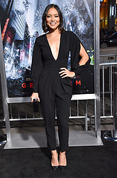 October 17, 2017 - Los Angeles, California, USA - 10/16/17.Sonya Balmores at the world premiere of ''Geostorm''..(Hollywood, CA) (Credit Image: © Starmax/Newscom via ZUMA Press)