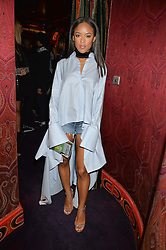 SERAYAH McNEILL at a party hosted by fashion website Farfetch to launch i.am + EPs headphones hosted by Will.i.am at Loulou's, 5 Hertford Street, London on 16th September 2016.