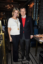 CAROLINE STANBURY and LEONID SHUTOV owner of Bob Bob Ricard at a party to celebrate the 1st anniversary of Gift-Library.com held at Bob Bob Ricard, 1 Upper James Street, London on 19th November 2009.