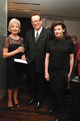 Left to right, LADY RAYNE and LORD & LADY SAATCHI at a Valentine's Party in aid of Chickenshed held at De Beers, 50 Old Bond Street, London W1 on 6th Fbruary 2008.<br /><br />NON EXCLUSIVE - WORLD RIGHTS