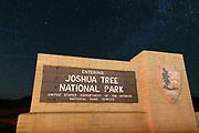 Joshua Tree National Park Monument at Night