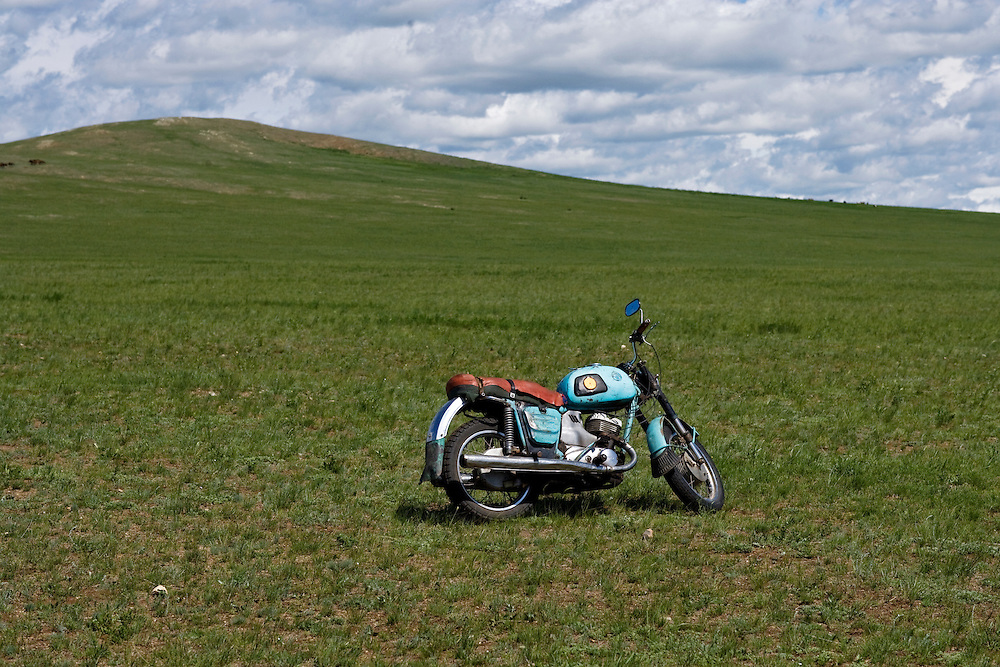 Motorcycle middle of nowhere
